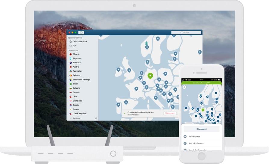 VPN mobile téléphone intelligent NordVPN