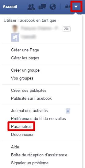 Paramètres Facebook