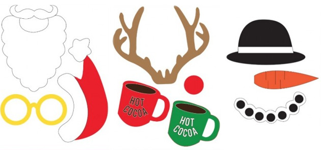 Gut gemocht Accessoires et déguisements à imprimer pour un photobooth de Noël  DM56
