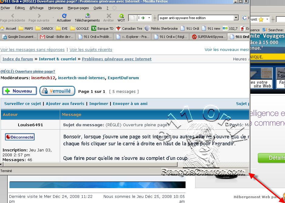 Ma Page Internet Ne S Ouvre Pas Pleine Grandeur Francoischarron Com