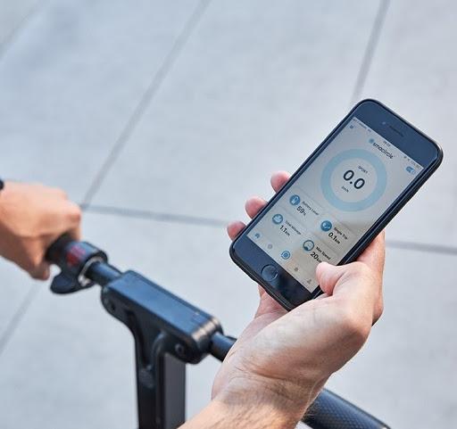 SmaCircle vélo bicyclette pliable électrique application mobile téléphone intelligent