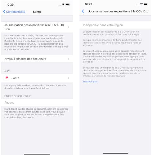 iOS 13.5 iPhone exposition Covid-19 traçage de contacts