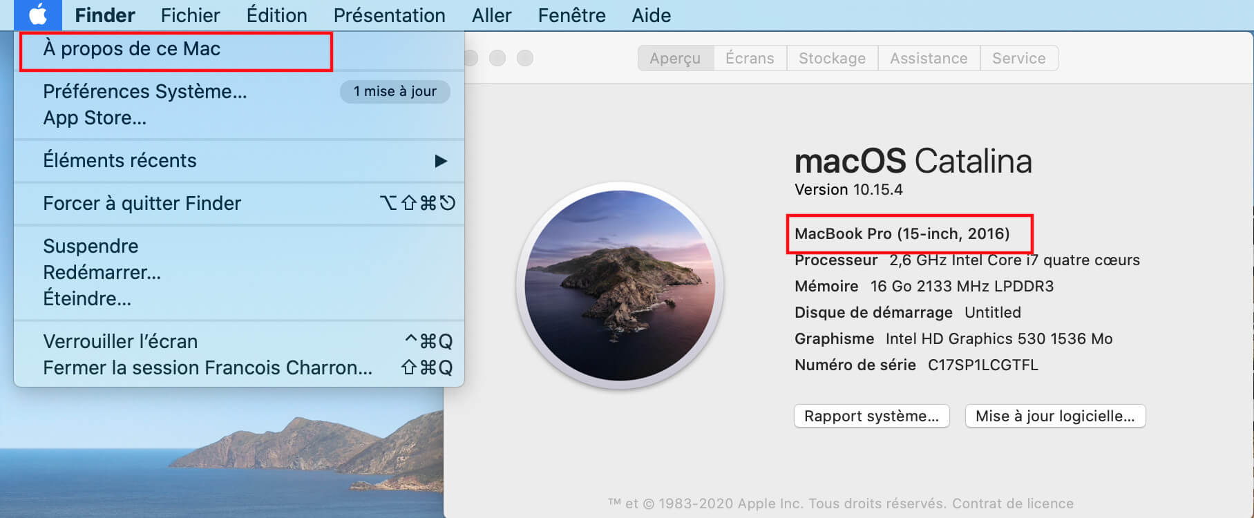 MacOs Big Sur savoir quel modèle Mac Apple