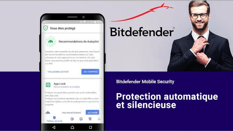 Bitdefender Mobile Security Android téléphone intelligent tablette