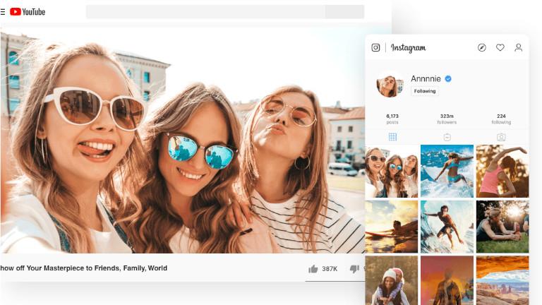 EaseUS Video Editor adolescants médias sociaux