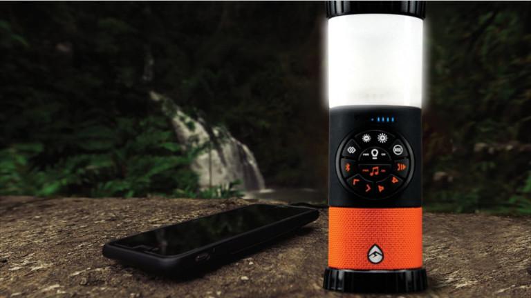Lanterne lumière camping haut-parleur téléphone intelligent