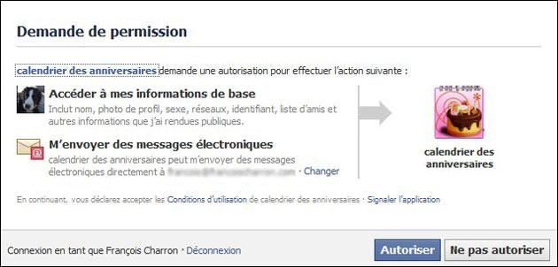 Demande de rencontre facebook application