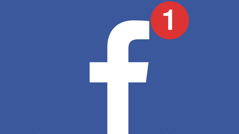 Facebook point rouge notification mobile téléphone intelligent
