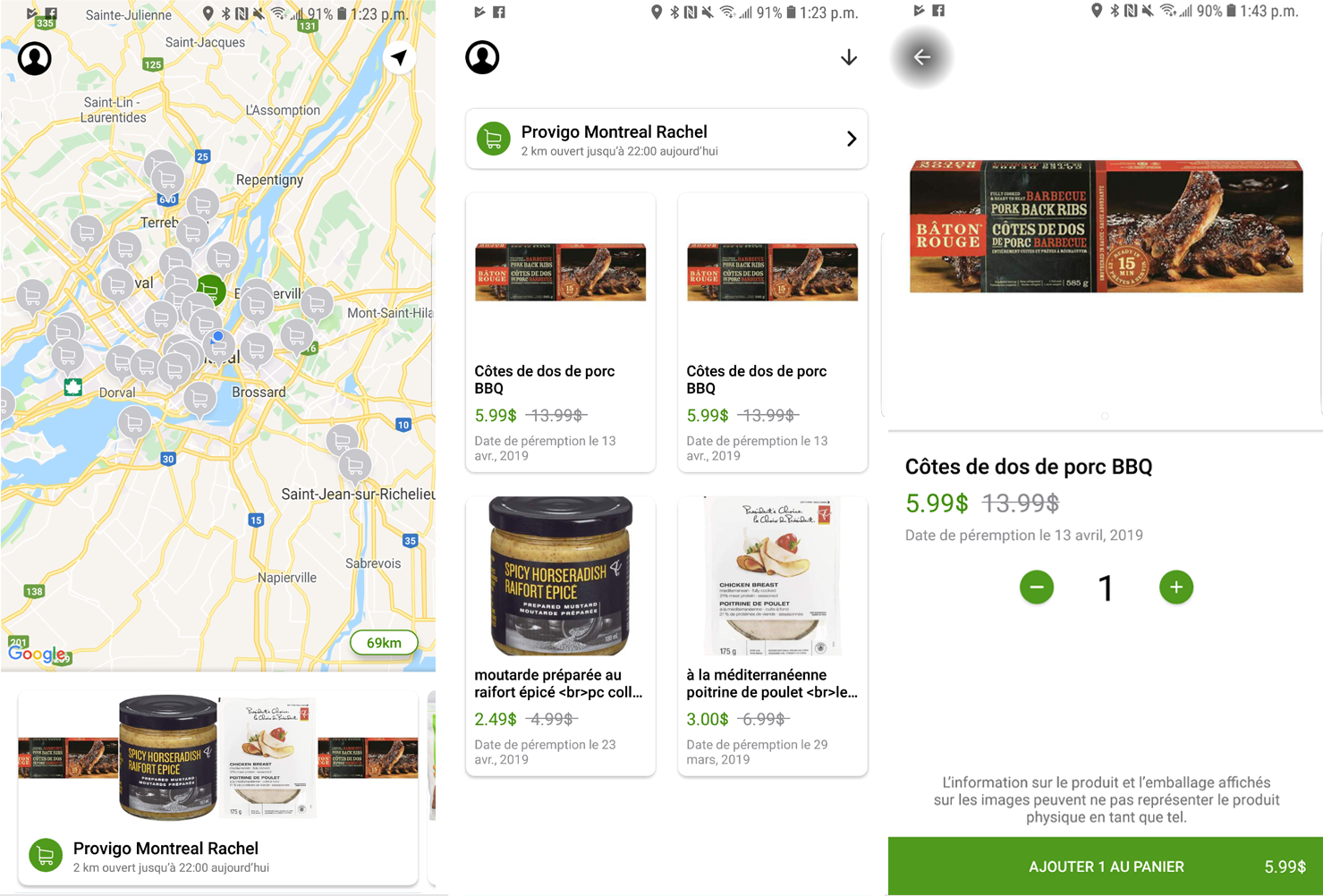 FlashFood application mobile Android iOS achat aliments nourriture