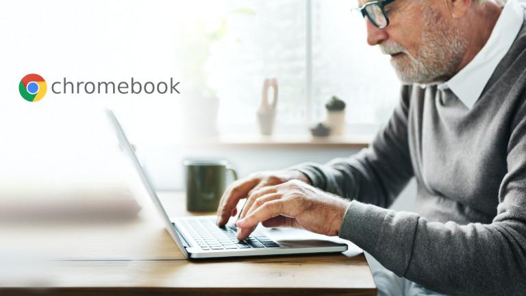 Ordinateur Chromebook fonctions personnes malvoyantes