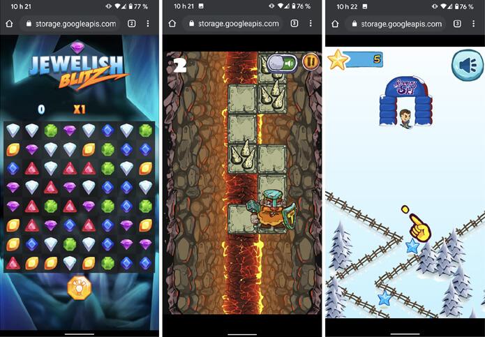 Google jeux gratuits