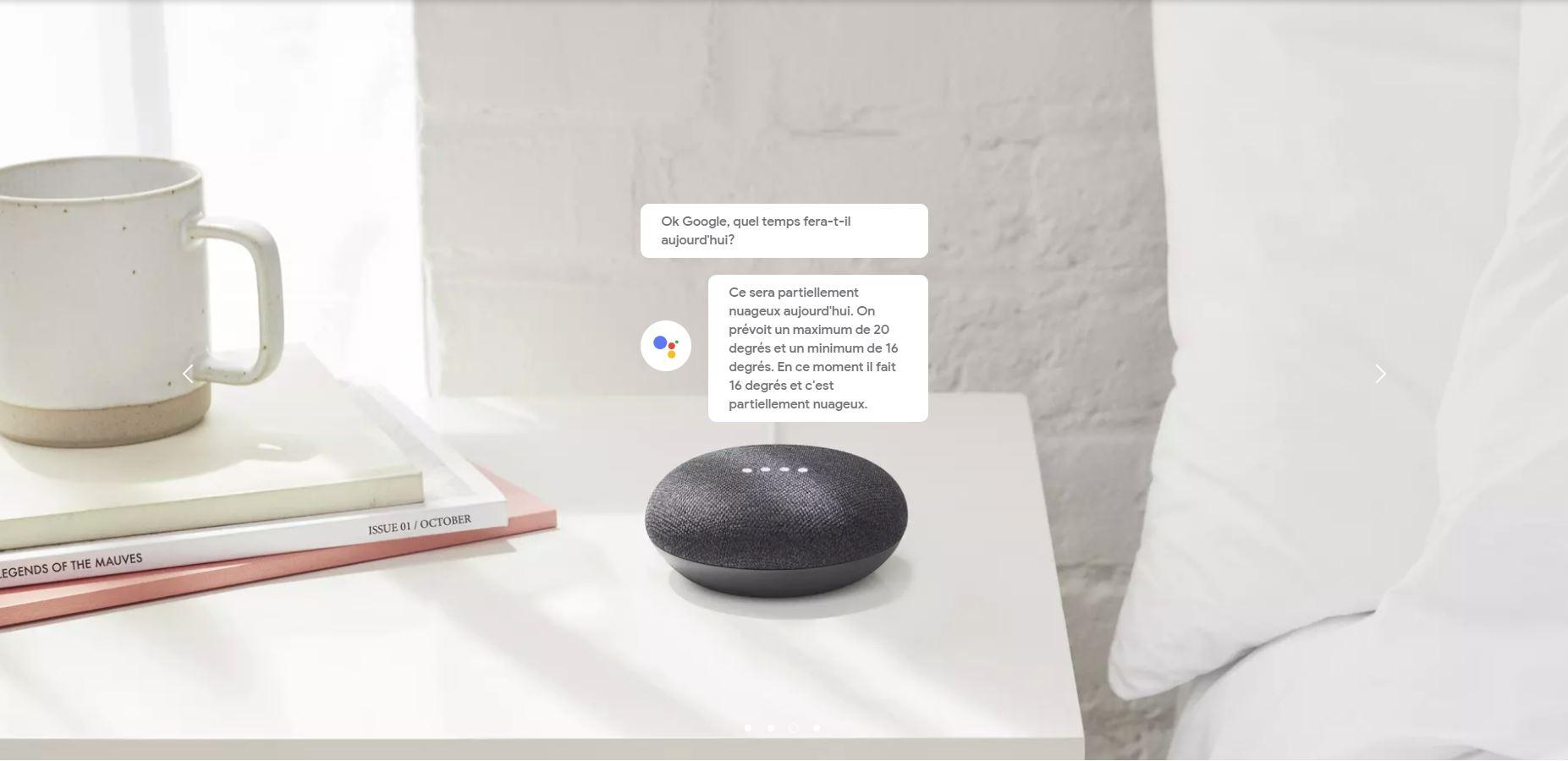 d couvrez les assistants personnels google home mini et max. Black Bedroom Furniture Sets. Home Design Ideas