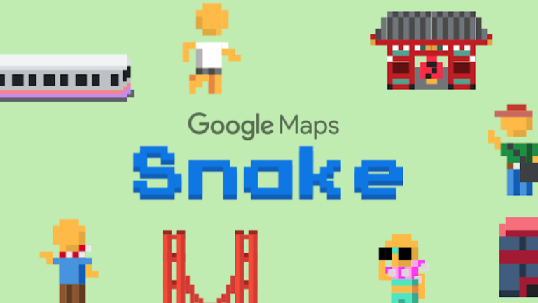 Google Maps Snake poisson d'avril