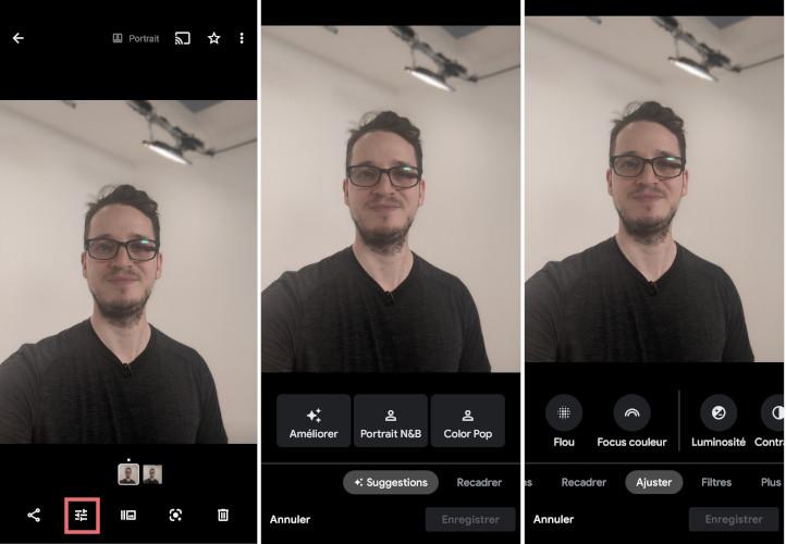 Google Photos application mobile outils améliorer photos images