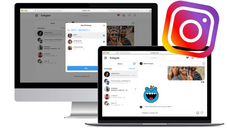 Instagram ordinateur vidéo live messages privés