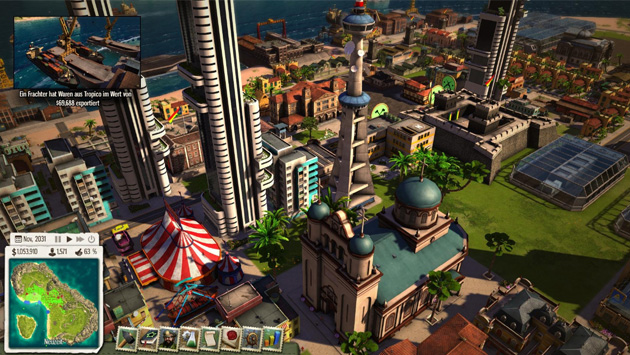 construire et g rer sa propre le dans le jeu tropico 5. Black Bedroom Furniture Sets. Home Design Ideas
