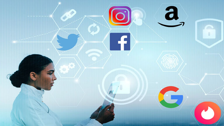 Jumbo app vie privée Facebook Twitter Instagram Amazon Google Tinder