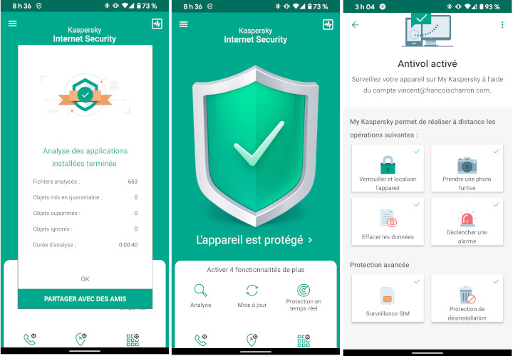 Kaspersky Total Security antivirus téléphone intelligent Android iPhone