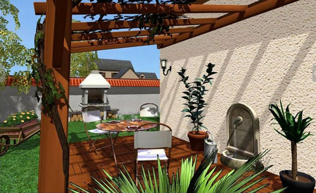am nagez votre jardin et votre cour en 3d avec ce logiciel. Black Bedroom Furniture Sets. Home Design Ideas