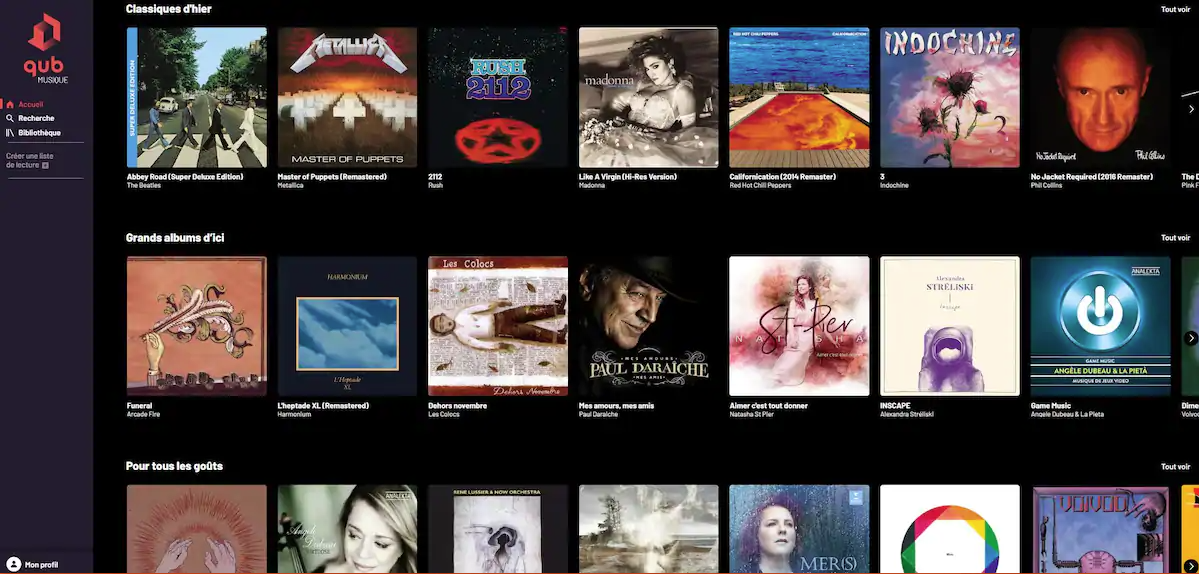 Qub musique plateforme québécoise streaming
