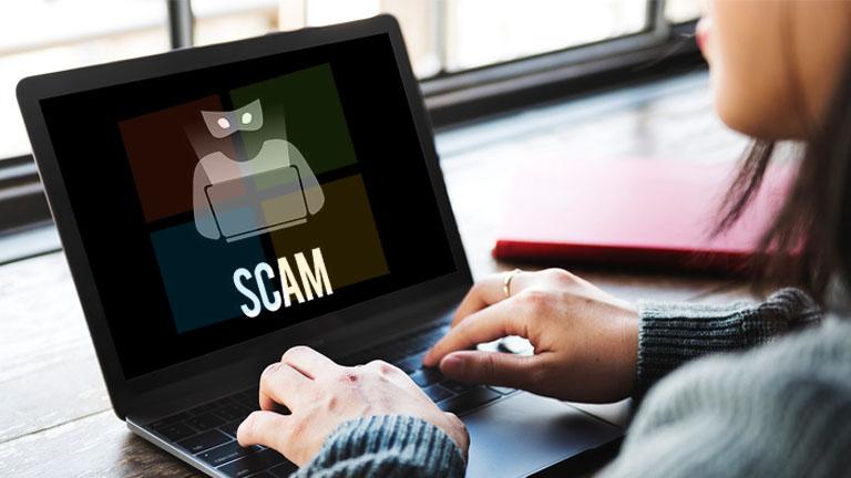 Fraude scam support Microsoft navigateur gelé