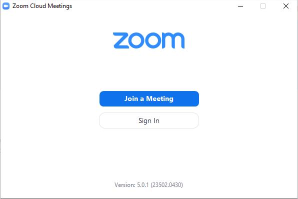 Version Zoom 5.0