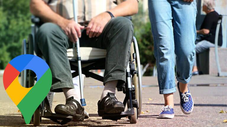 accessibilité personnes handicapées google maps