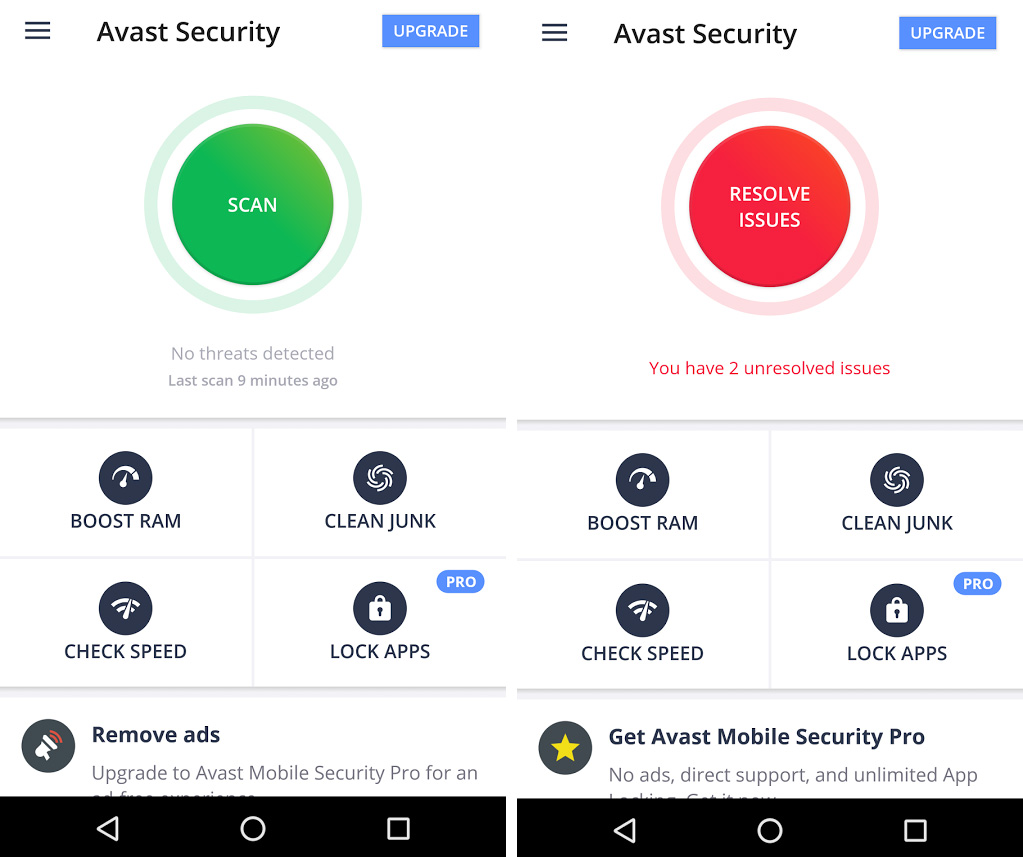 Antivirus mobile tablette iPhone Android Avast
