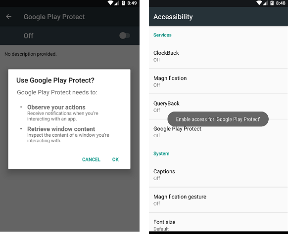 Anubis malware Google Play Protect