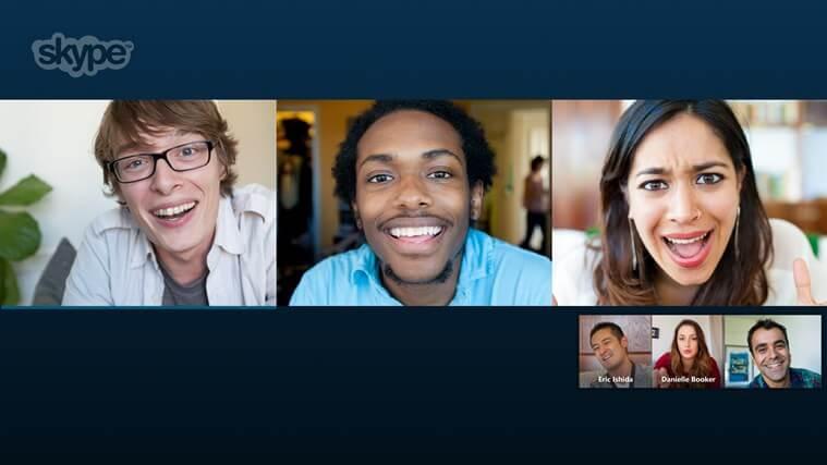 appels groupes skype