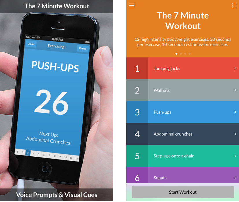 Application 7 minute workout