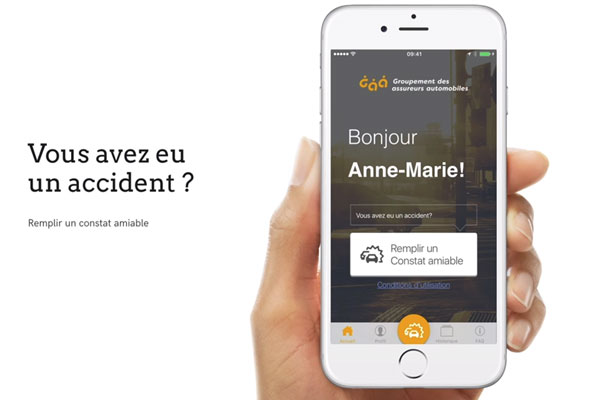 application constat amiable