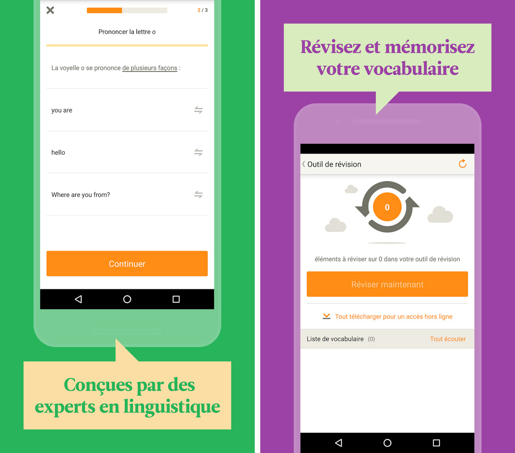 Application de vocabulaire Babbel