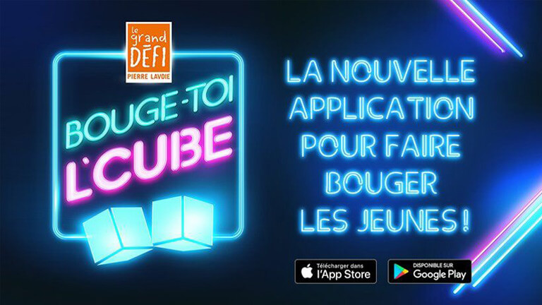 application mobile Bouge toi l'Cube Pierre Lavoie