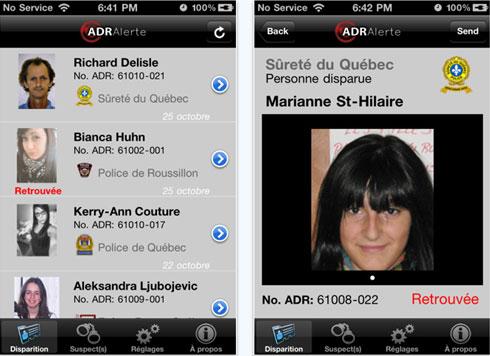 Avis de recherche de personnes disparues sur iphone et le - Comment ne plus recevoir de coup de telephone publicitaire ...