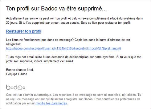 Badoo site ordinateur