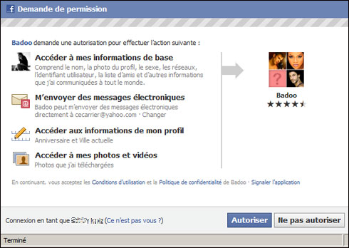 Rencontre contact facebook