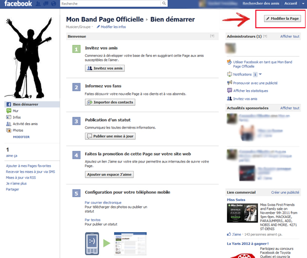 les contacts qui apparaissent à gauche dans facebook