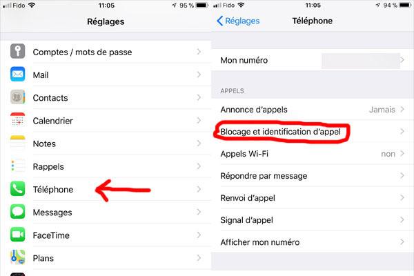 produits de qualité sur des pieds à styles divers Bloquer un numéro de téléphone sur un iPhone avec iOS 11 ...
