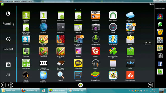 Applications Bluestacks PC