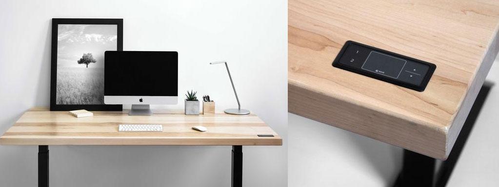 travaillez debout et assis gr ce ces bureaux ajustables et lectriques. Black Bedroom Furniture Sets. Home Design Ideas