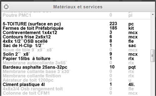 Interesting virtuel liste matriau with quelle materiaux for Evaluer prix maison