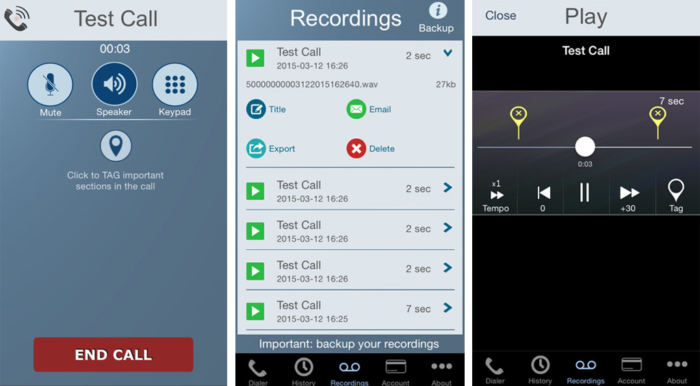 Application Call Recorder