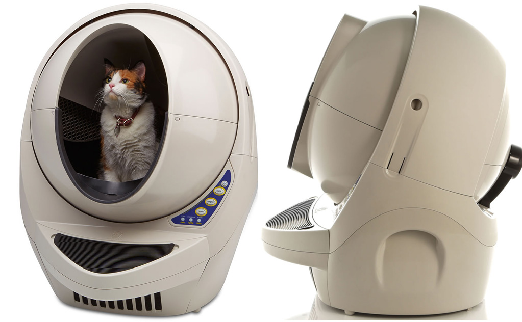 une liti re pour chats qui se nettoie automatiquement. Black Bedroom Furniture Sets. Home Design Ideas