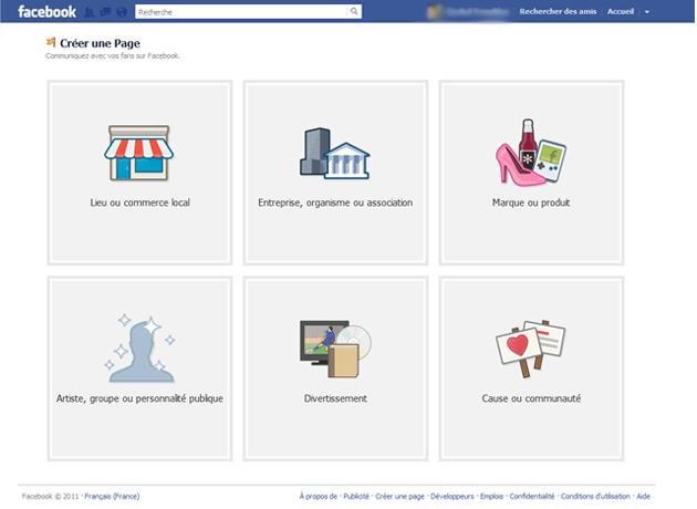Création d'une Page Facebook
