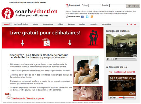 Rencontre sur Seduction.fr, site de rencontres + chat