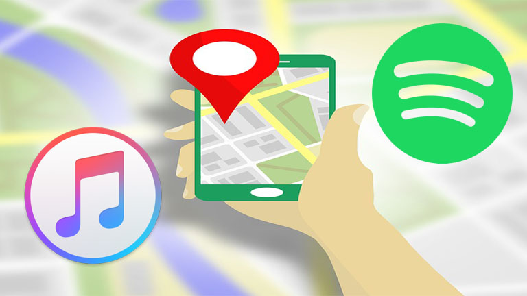 Google Maps comment intégrer Spotify Apple Music youTube Google Play