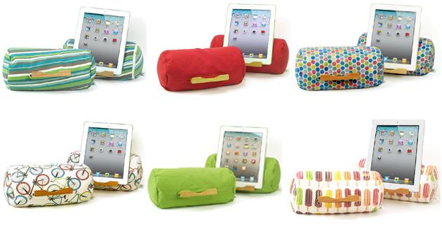 Des coussins colorés pour utiliser sa tablette confortablement