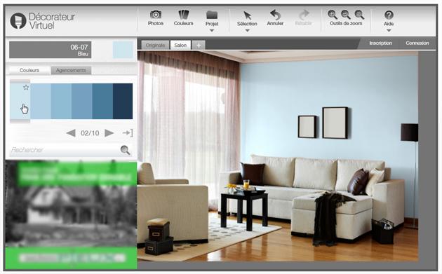 un site pour essayer de nouvelles couleurs de peinture sur ses murs. Black Bedroom Furniture Sets. Home Design Ideas