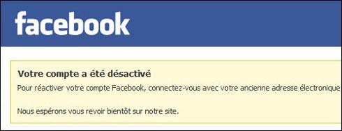 Désactiver son profil Facebook